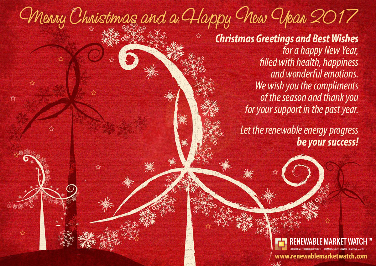 Seasons Greetings For 2017 From Renewable Market Watch