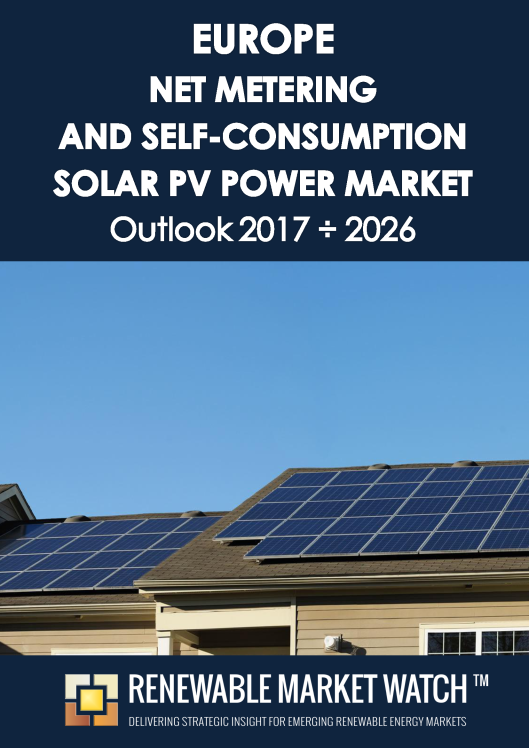 Europe Net Metering and Self-Consumption Solar PV Market Outlook 2017 - 2026