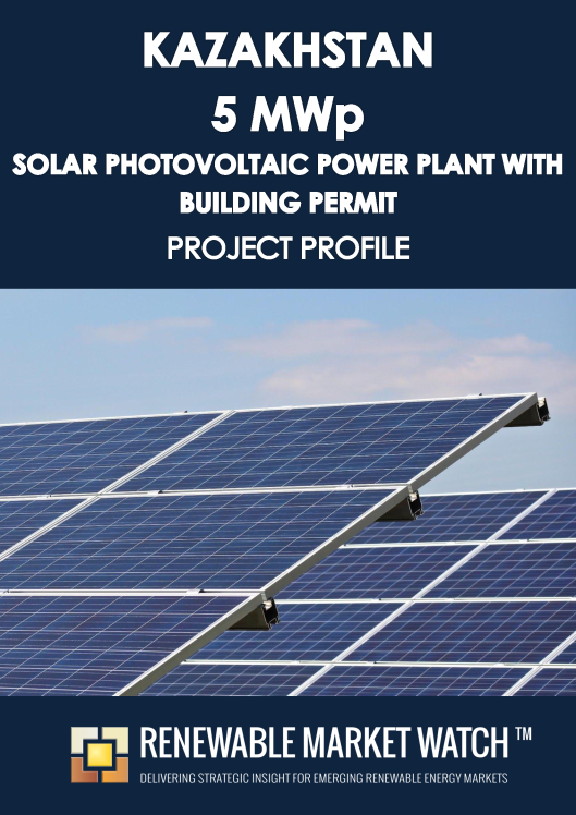 Kazakhstan 5 MWp Solar Photovoltaic (PV) Power Plant with Building Permit- Project Profile - Single User