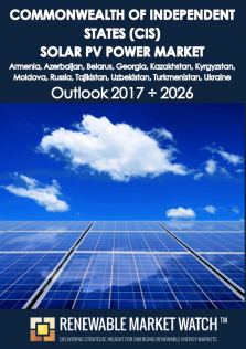 Commonwealth of Independent States (CIS) Solar Photovoltaic (PV) Power Market Outlook 2017 - 2026