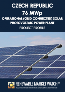 Czech Republic 76 MWp Operational (Grid Connected) Solar Photovoltaic (PV) Power Plant - Project Profile - Single User