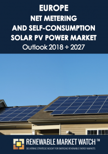 Europe Net Metering and Self-Consumption Solar PV Market Outlook 2018 - 2027