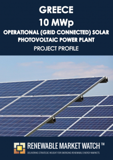 Greece 10 MWp Operational (Grid Connected) Solar Photovoltaic (PV) Power Plant - Project Profile - Single User