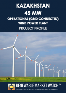 Kazakhstan 45 MW Operational (Grid Connected) Wind Power Plant - Project Profile - Single User